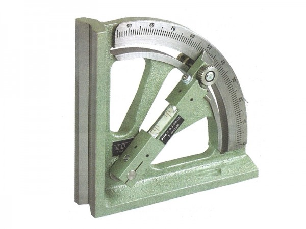 Vernier clinometer 0-90 ° with prismatic base 150 mm