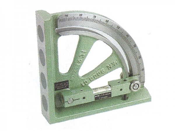 Vernier clinometer 0-90 ° with flat magnetic base 150 mm