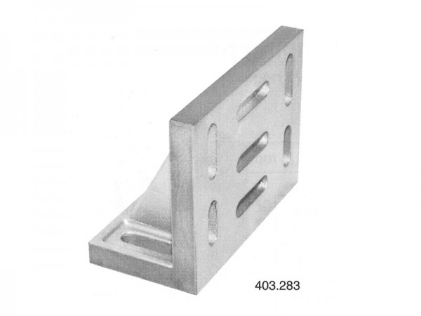 Cast iron angle plate - Clamping slots 500x300x400
