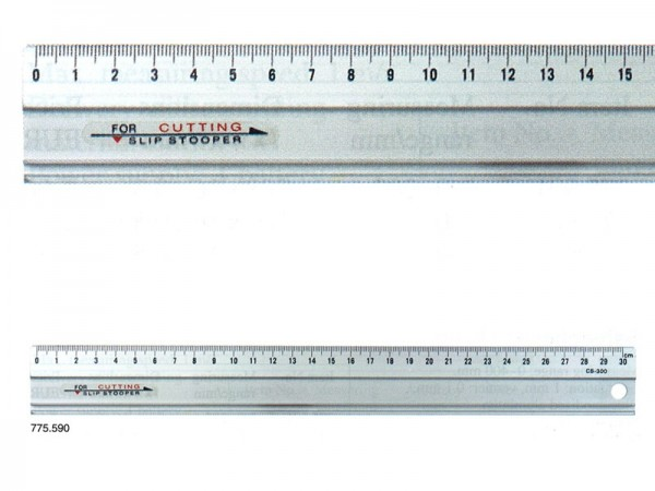 Anodized Aluminium RULER slip-stopper 300x35x1,5 mm