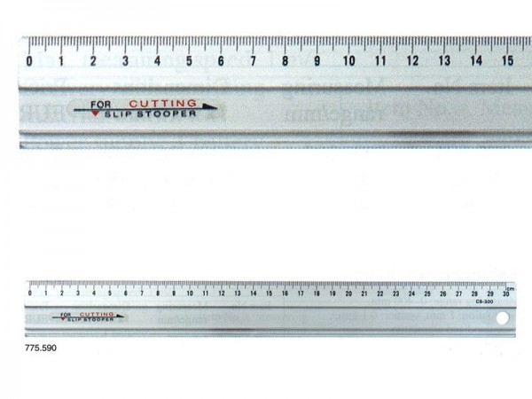 Anodized Aluminium RULER slip-stopper 600x35x1,5 mm
