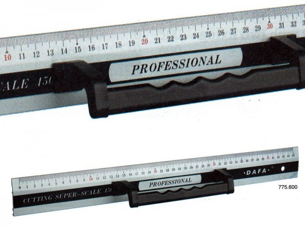 Anodized Aluminium RULER with handle and magnet 1000x50x3 mm