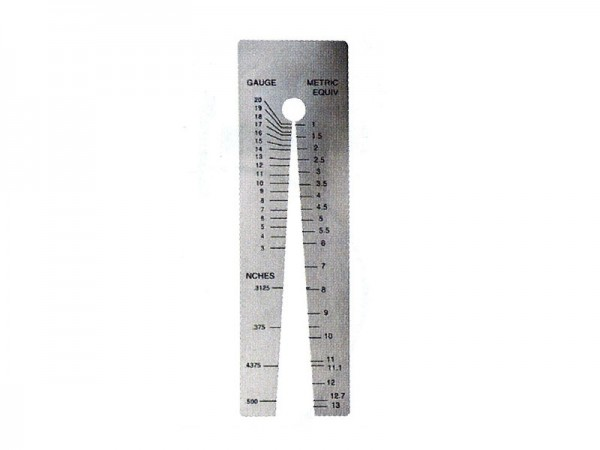 Měřící klín pro měření tloušťky plechu 1-13/0,5 mm