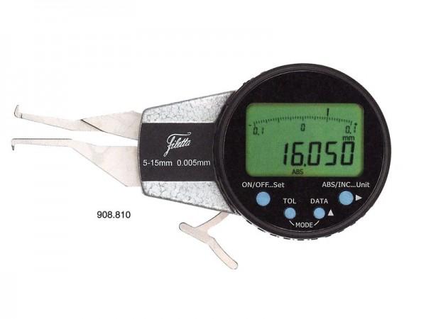 Digitální mikrometr pro měření vnitřních zápichů 10-20/R 0,3 mm