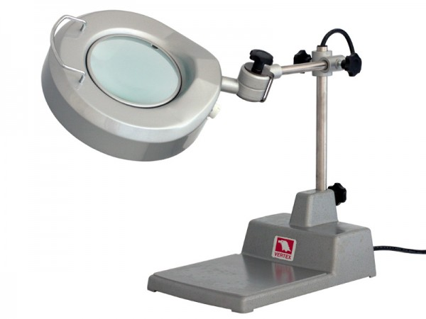 Desktop lamp with magnifying glass 2,25x
