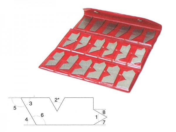 Angle gauge set 5-90°