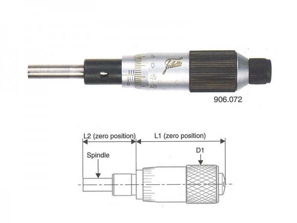 Micrometer head 0-25/0,01 mm flat