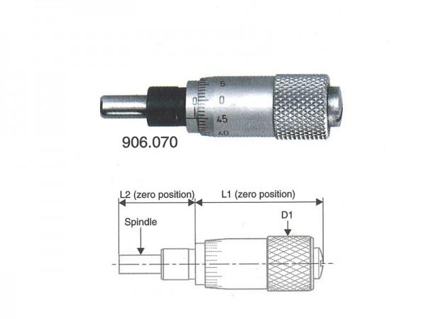 Micrometer head 0-6,5/0,01 mm flat