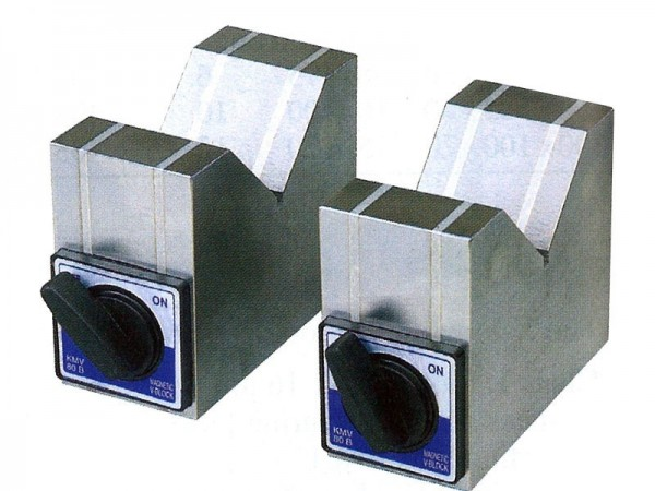 Magnetic V-blocks in pair 100x50x80