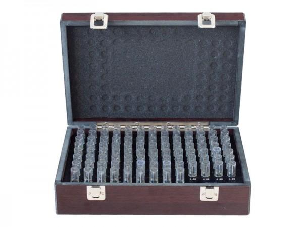 Válečkové měrky ocelové 8,01-9,00/±0,002 mm sada 100 ks