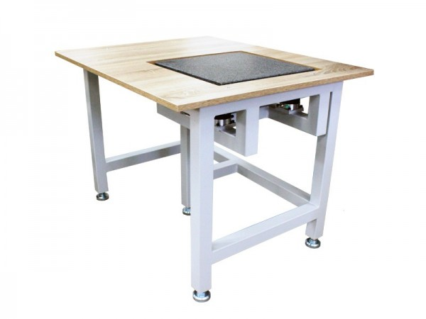 Vibration damping table with granite surface plate 400x400 mm