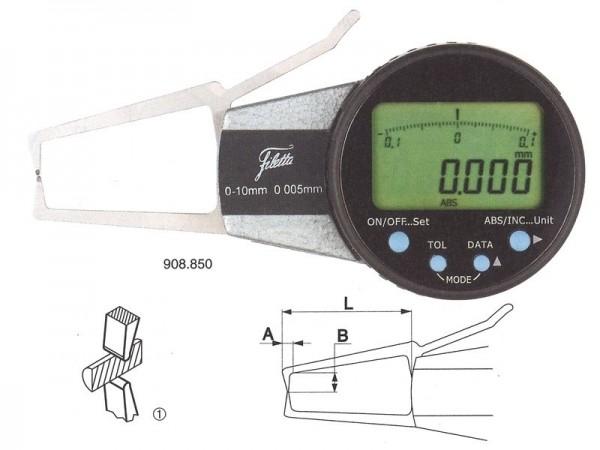 Digital external measuring instrument 10-30/ R 0,75 mm