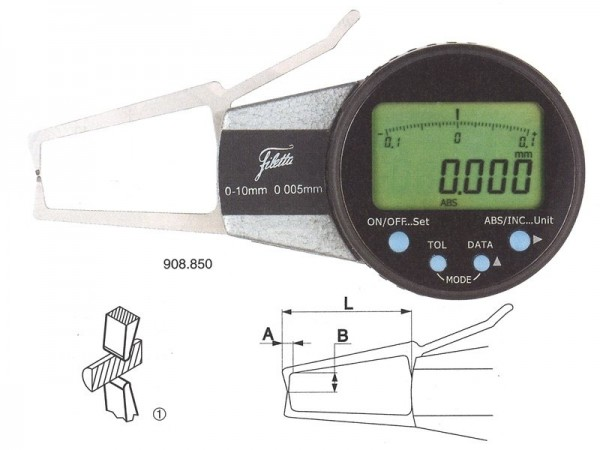 Digital external measuring instrument 40-60/R 0,75 mm