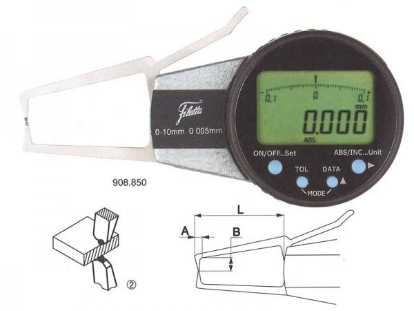 Digitální mikrometr pro měření vnějších zápichů 0-20/R 1,5 mm