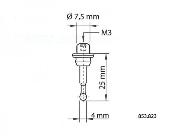 Spare insert for 3D centering probe 25/4 mm