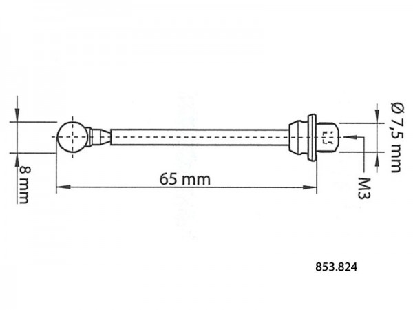 Spare insert for 3D centering probe 65/8 mm