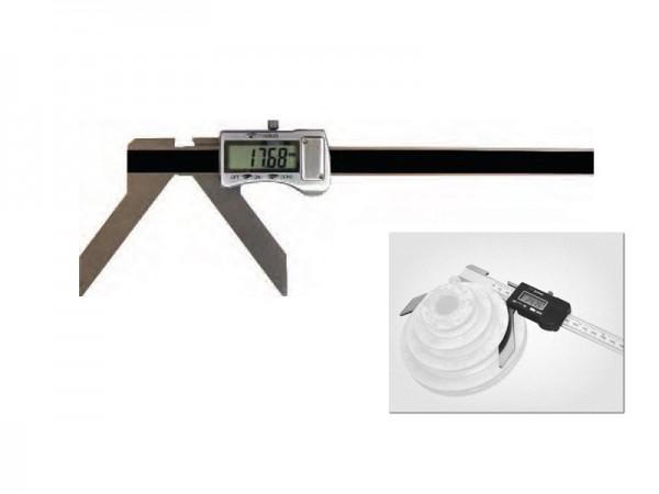 Digitální posuvné měřítko pro měření oblouků a poloměrů 3-150