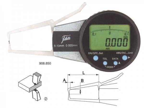 Digital external measuring instrument 20-40/R 1,5 mm