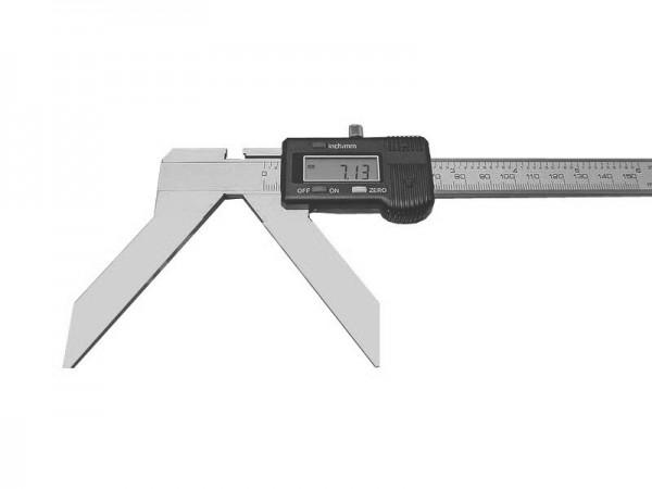 Digitální posuvné měřítko pro měření oblouků a poloměrů 0-200