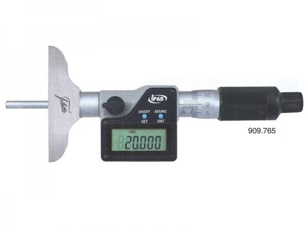 Digitální mikrometrický hloubkoměr IP65 0-200/101,5 mm