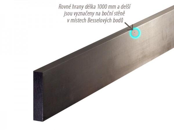 Pravítko z lesklé oceli 1000x50x10 mm 874/1