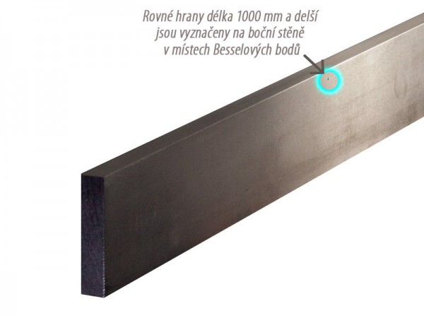 Straight Edge Bright steel 750x50x10 mm 874/1