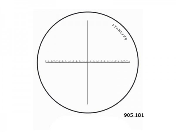 Standard Horizontal Crosshair Scale Ø 35/1,2 mm