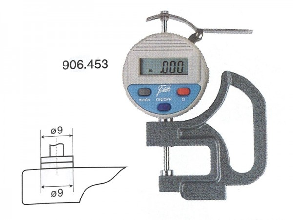Digital Thickness gauge 0-10/0,01 mm throat depth 30 mm