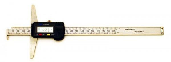Digital depth caliper s with hook 200/0,01 mm