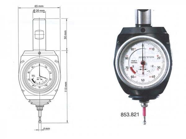 3D centrovací sonda analogová 2/0,01 mm