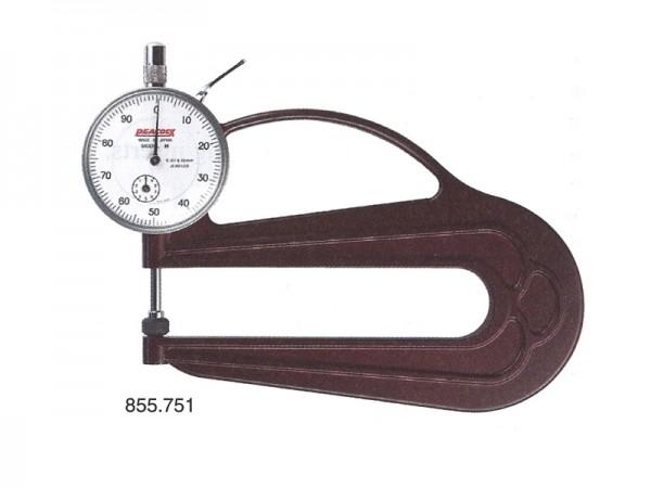 Thickness gauge 0-10 mm/throat depth 120 mm