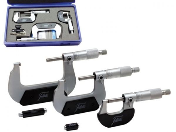Set of Analog Micrometer 0-75 mm