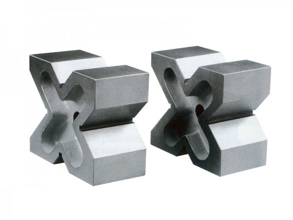 Cast iron X-blocks in pair 150x130x75