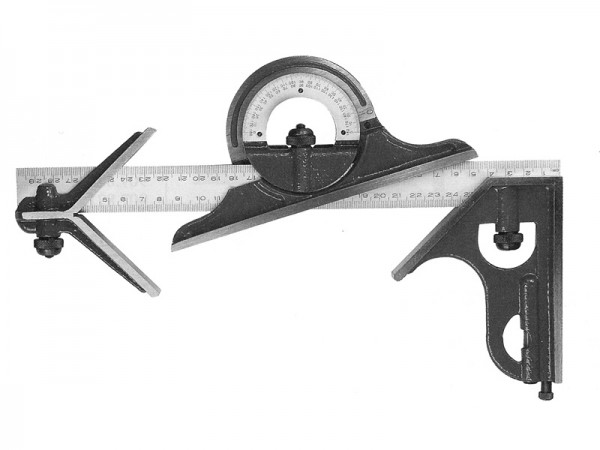 Úhloměr kombinovaný 180°