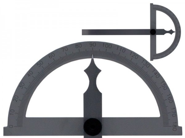 Bevel protractor 180° blade 200 mm