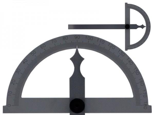 Obloukový úhloměr 180° čepel 300 mm