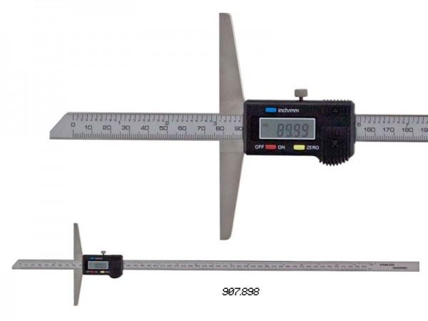 Depth caliper, beveled nose 0-500/0,01 mm