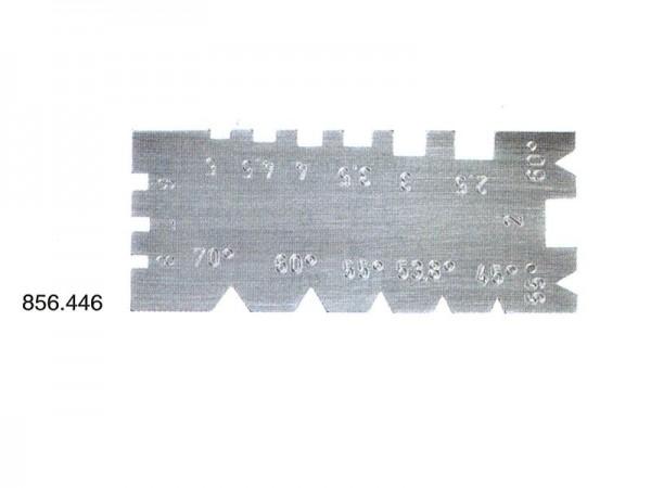 Kombinovaná univerzální šablona závitů na ploché a úhlové závity.