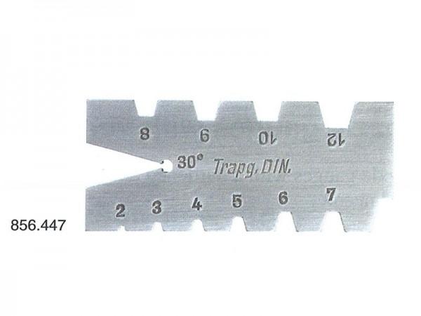 Šablona pro trapézový závit 2 - 12 mm