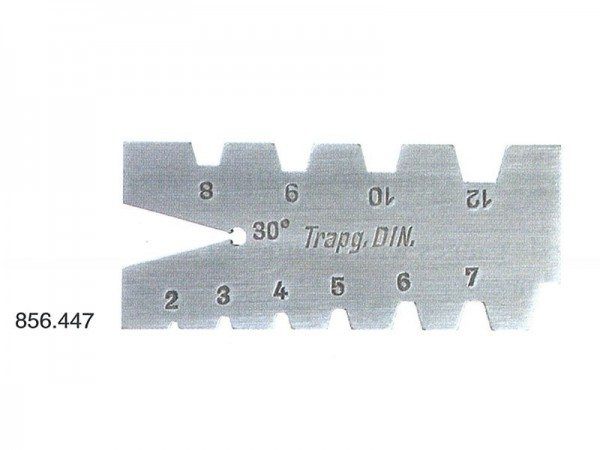 Trapezoidal thread cuttingtool gauge for trapezoidal thread DIN 103(30°, 2 - 12 mm)