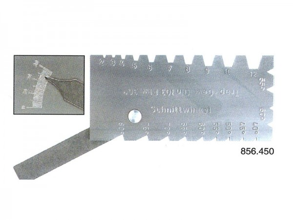Combined lathe andthread cutting tool gauge like 856.449,with additional angle stop (0 - 30°)on the back