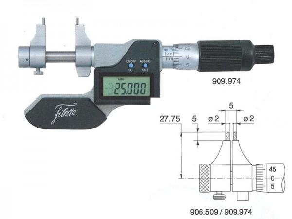 Digitální dutinový mikrometr 5-30 mm