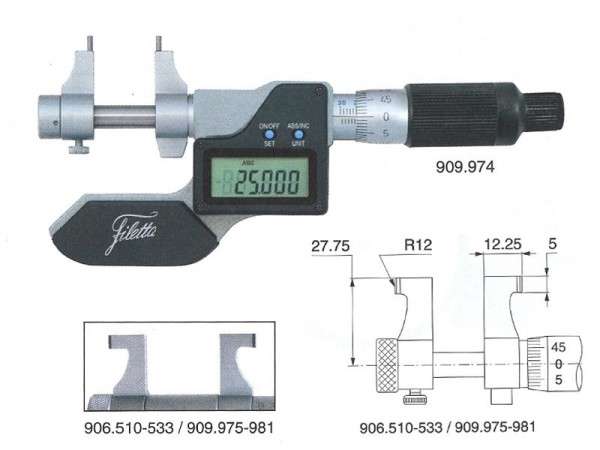 Digital Internal micrometer 50-75 mm