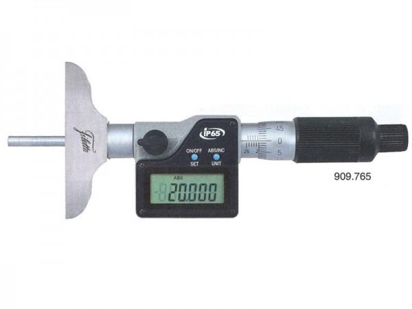 Digital depth micrometer IP65 0-100/63 mm
