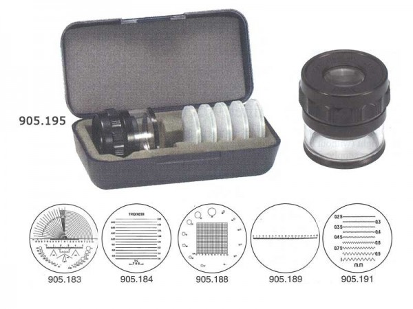 Magnifier with set of scale 10x/Ø 35 mm