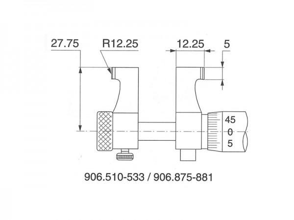 Dutinový mikrometr dvoudotekový 175-200 mm