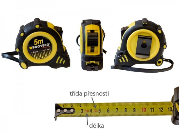 Tape measure 2 m/16 Rubber case