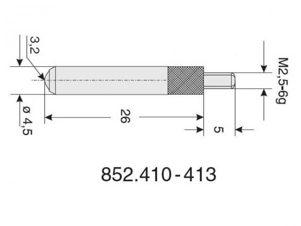 Ball radius probe Ø 3,2/26 S