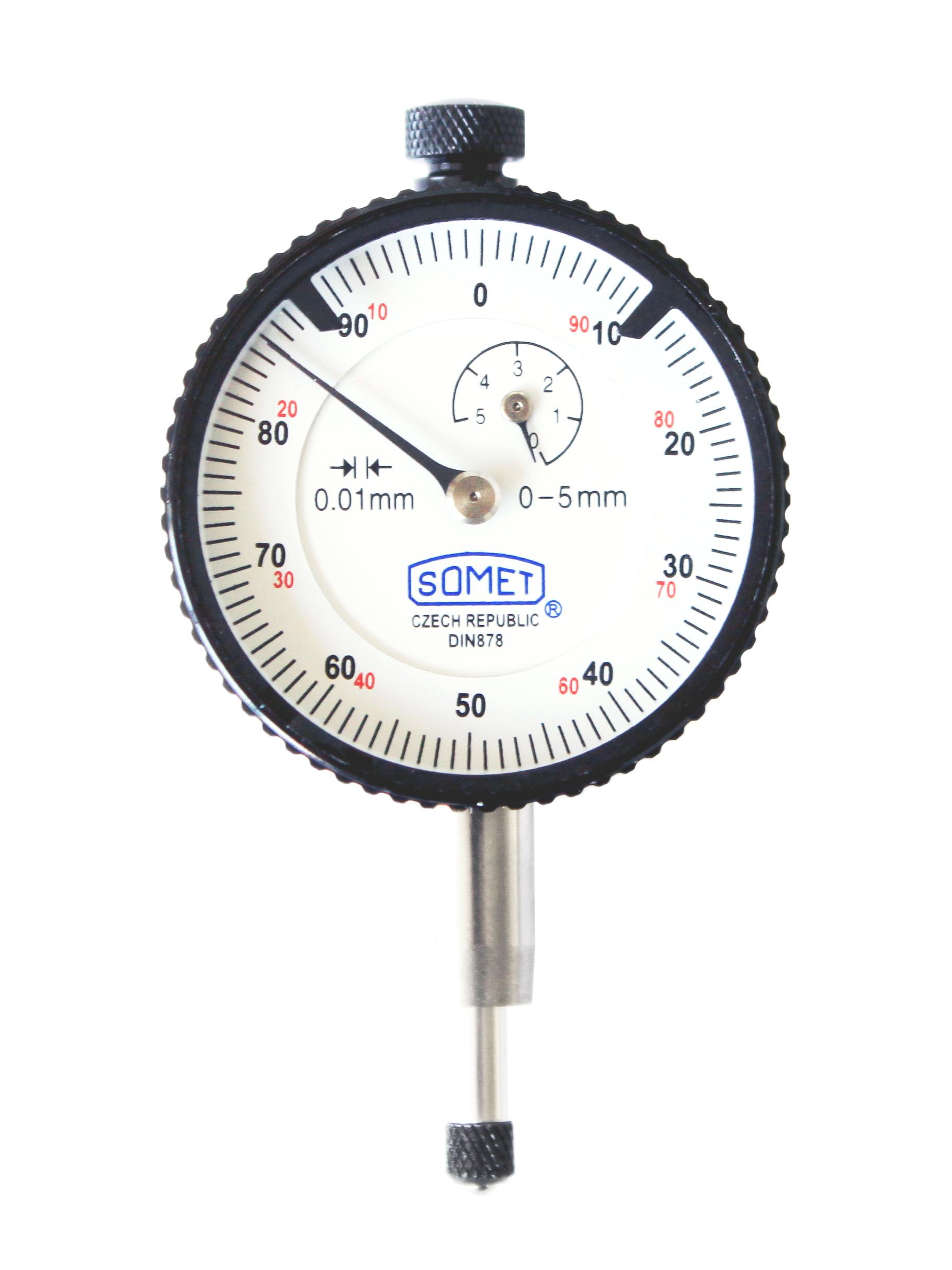Číselníkový indikátor bílý 40/3x0,01 mm