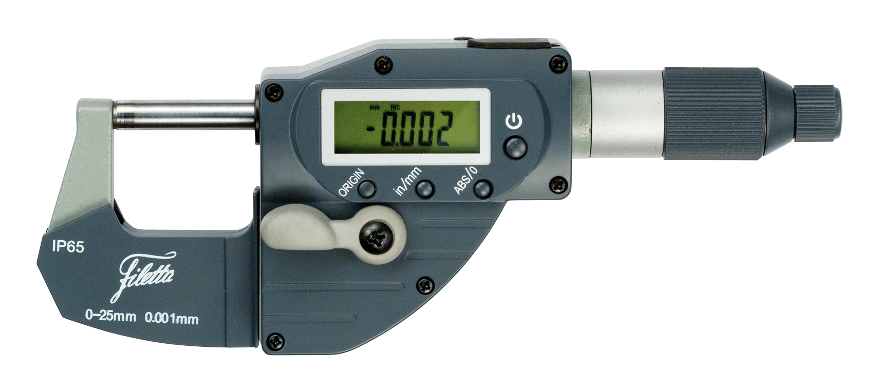 Digital fast adjustable external measuring instruments IP65 0-25/0,001